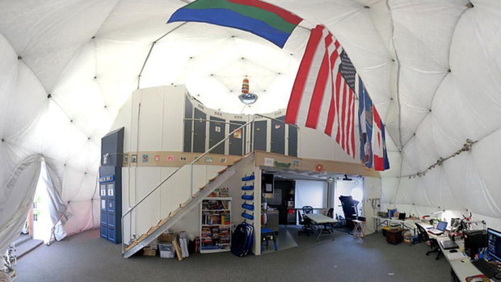 Вот так выглядела станция изнутри