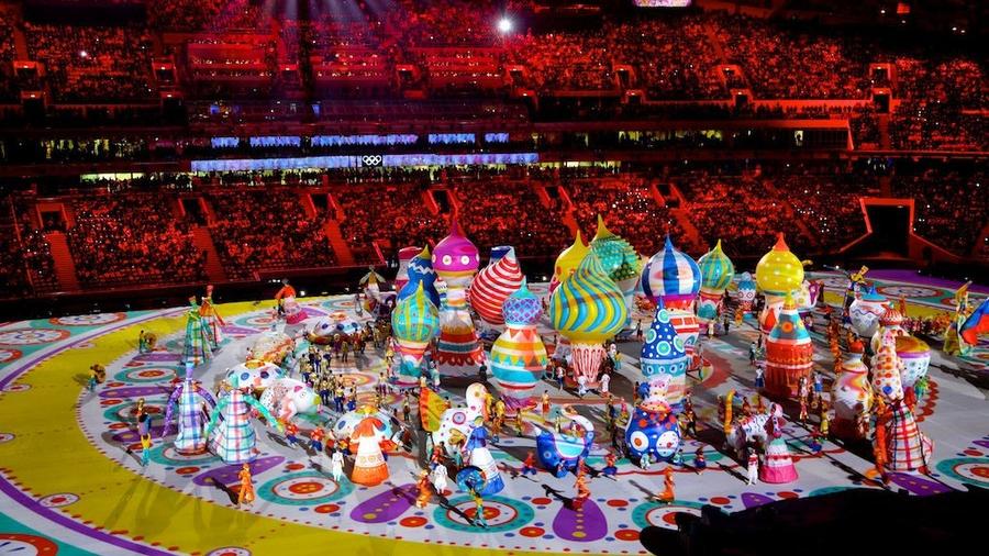 Кадр с открытия Зимней Олимпиады 2014 года в Сочи