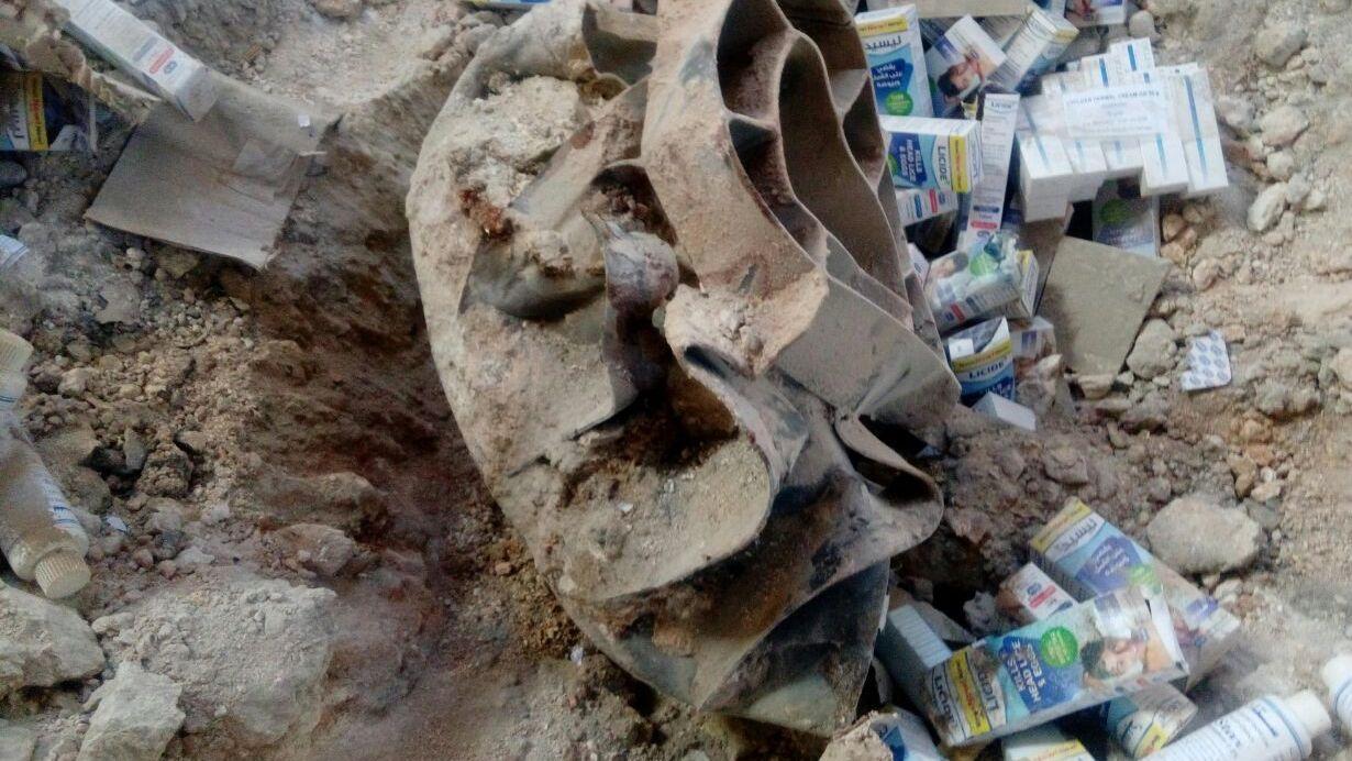 Части осколочно-фугасной бомбы ОФАБ-250-270. Фото: Bellingcat