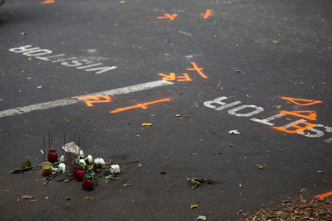 Место гибели Кейта Ламонта Скотта. Фото: Brian Blanko