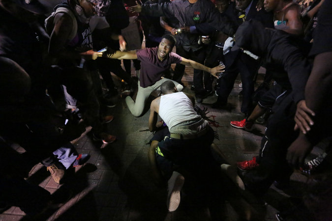 Погибший участник акции протеста. Фото: Logan Sairus \ The New York Times