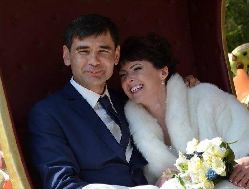Мамашов с женой Ольгой - фото со свадьбы