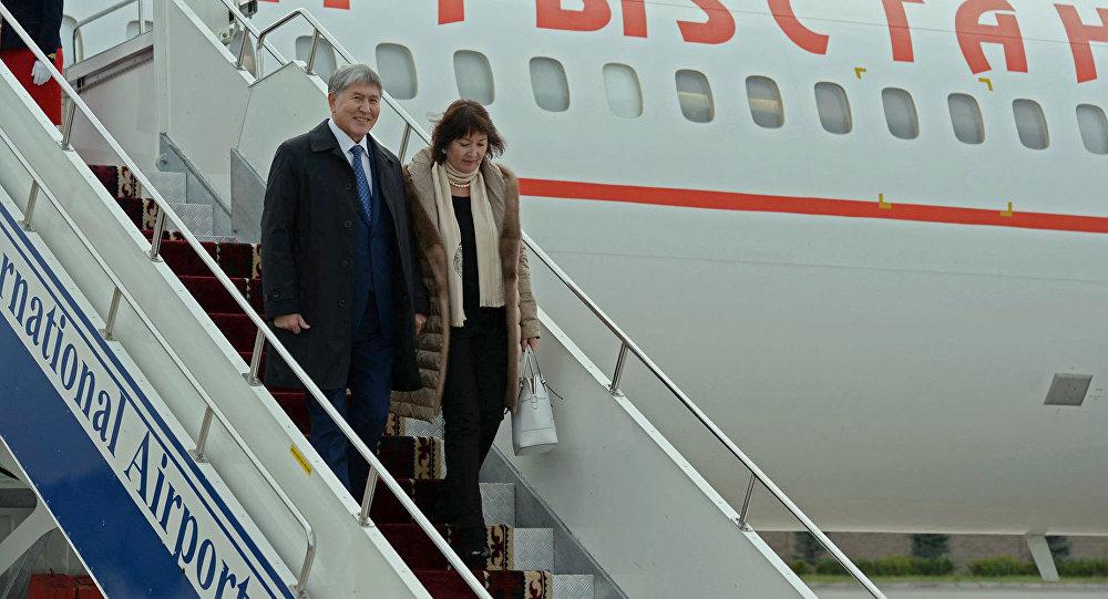 Президент Киргизии прилетел вБишкек после лечения в столице России