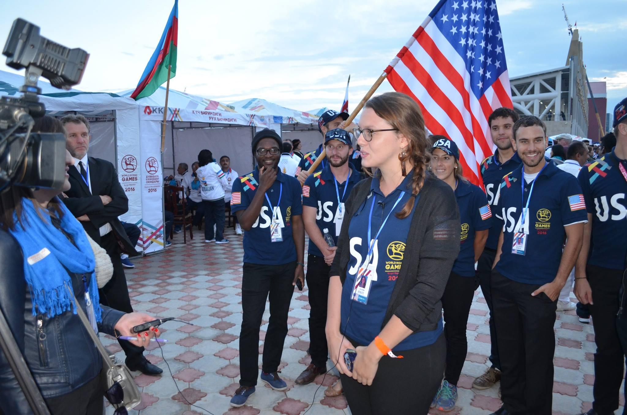 Коллин Вуд на Всемирных играх кочевников