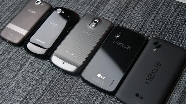 Смартфоны Nexus, выпущенные Google совместно с Samsung, HTC и LG