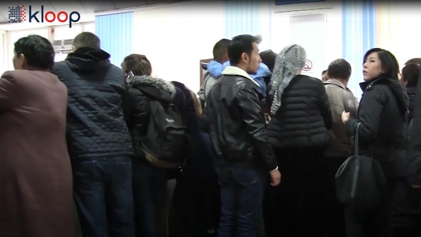 Очередь на регистрацию иностранных граждан в Центре обслуживания населения