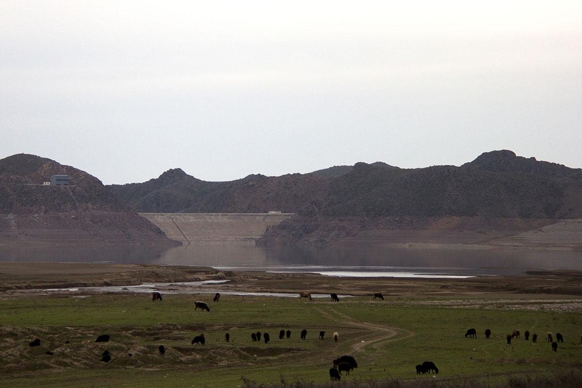 Одна из спорных территорий - Ортотокойское, оно же  - Канансайское водохранилище.
