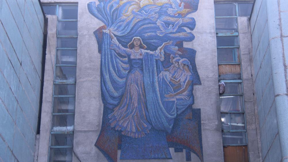 «Тебе Родина, наш Труд» находится на Жибек Жолу, автор - Теодор Герцен.