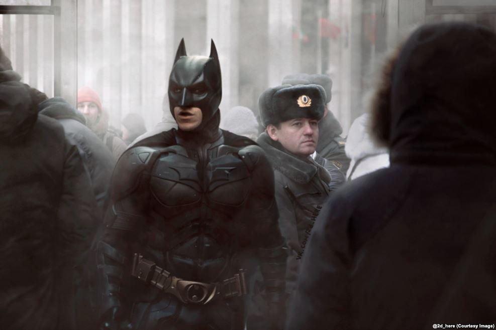 Бэтмен с напарником.