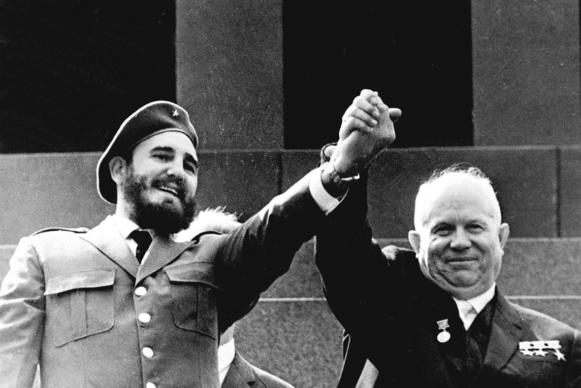 Кастро и Никита Хрущев. Фото: Wikipedia.