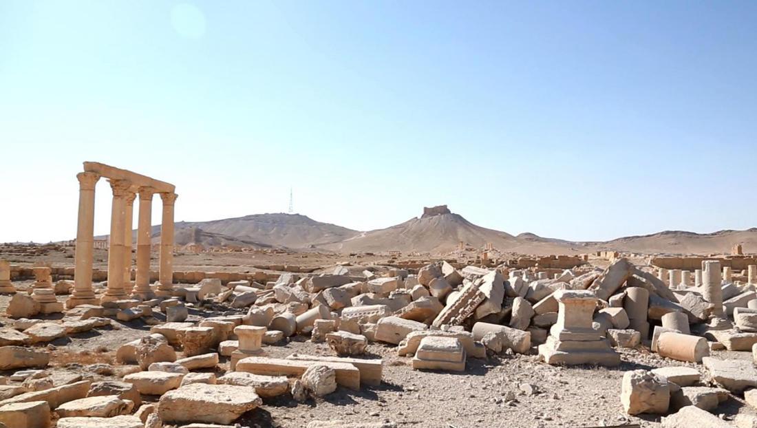 То, что осталось от древнего храма Баалшаамин.