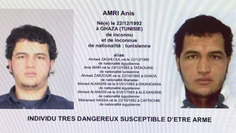 Ордер на арест Аниса Амри.