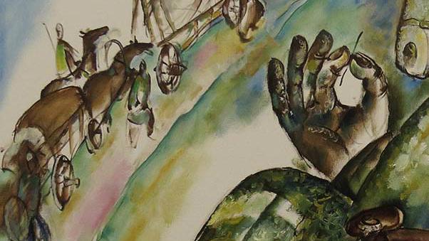 Башкирский художник с серией картин о Великом шелковом пути или кыргызстанец, учившийся рисовать у художников мультфильма «Мулан»?