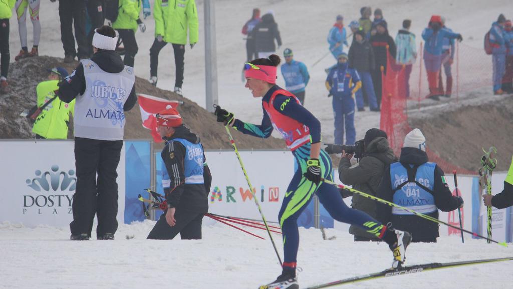 Лыжница Ольга Мандрика