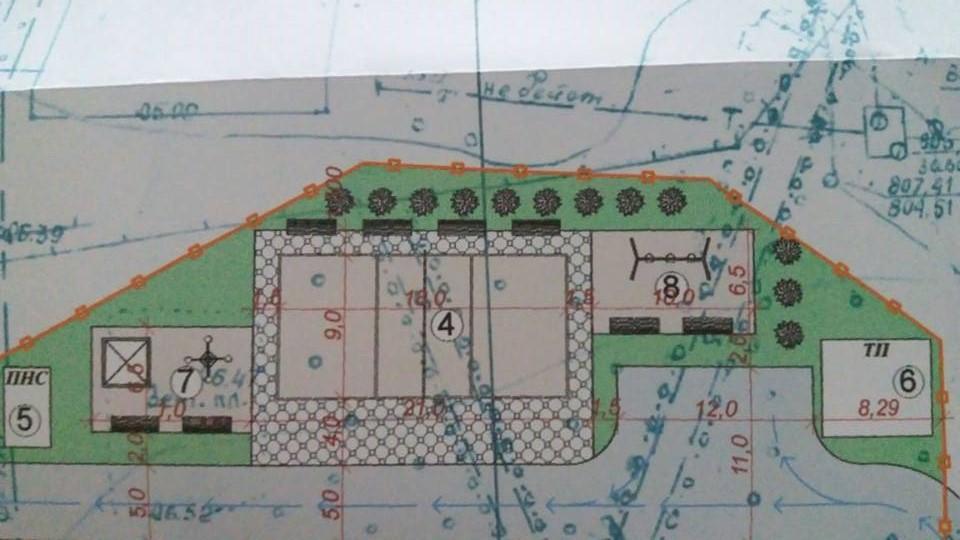 План реконструкции парка и футбольного поля.