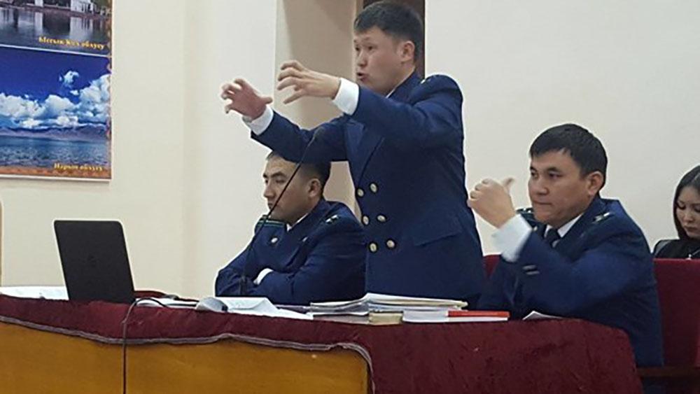 Выступление прокурора Курманбека Токтакунова во время прений сторон.