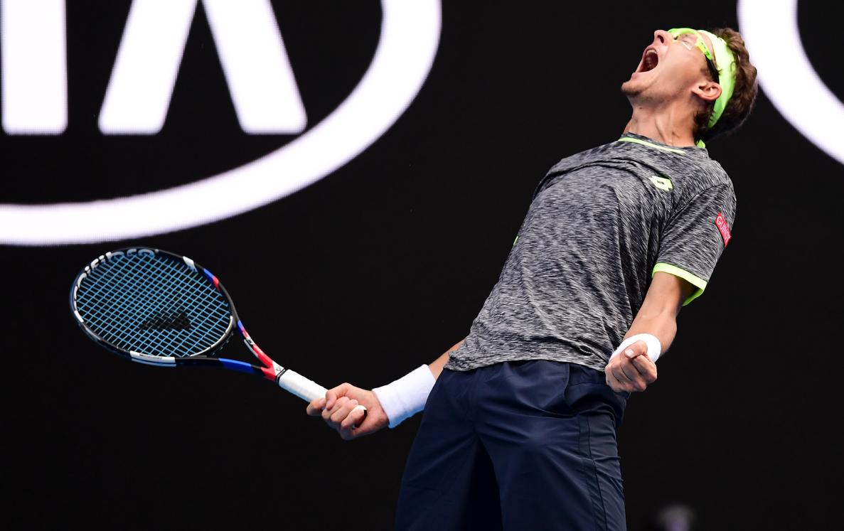Узбекский теннисист Денис Истомин не стал сдерживать эмоций после сенсационной победы над Джоковичем
