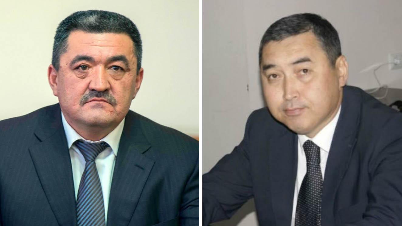 Кандыдаты на должность мэра города Бишкек - Албек Ибраимов и Нурдин Абдылдаев.