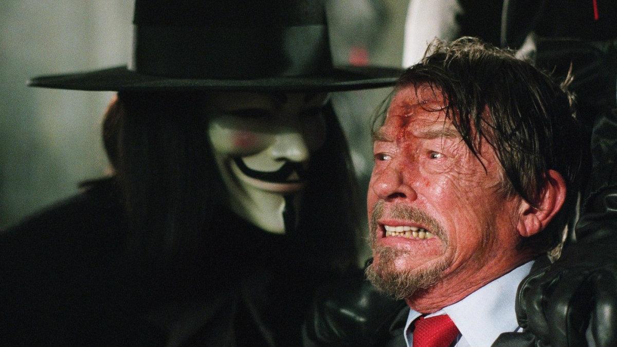 Херт сыграл главного антагониста в «V - значит вендетта».