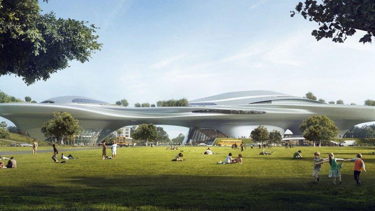 Проект музея для Лос-Анджелеса.