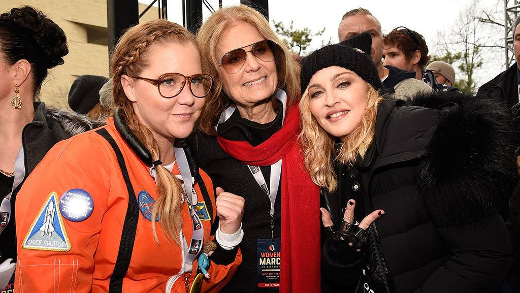 Эми Шуммер, Мадонна и Глория Стейнем. Фото: eonline