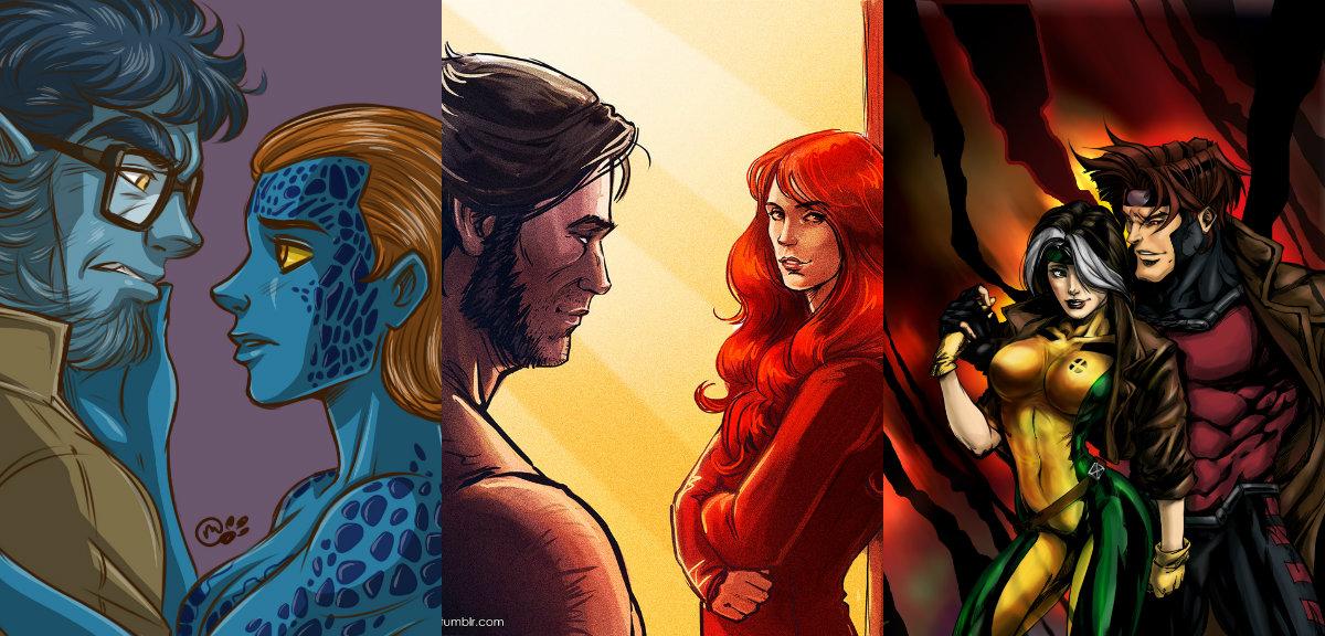 В комиксах и мультфильме о Людях Икс эти двое - пара влюбленных, а вот в киновселенной так и не встречаются.
