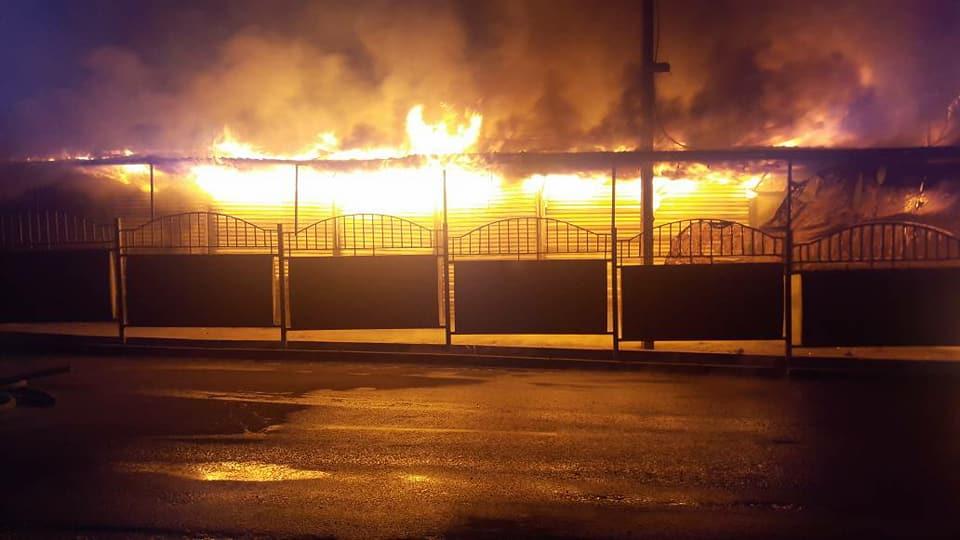 Последствия очередного пожара наОшском рынке